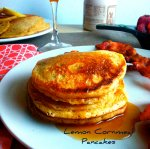 Lemon Cornmeal Pancakes via Pale Yellow