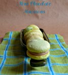 Mint Chocolate Macarons via Pale Yellow