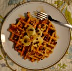 Banana Nut Waffles via Pale Yellow