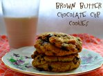 brown butter chocolate chip cookies via pale yellow