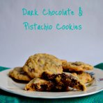 Dark Chocolate & Pistachio Cookies via Pale Yellow