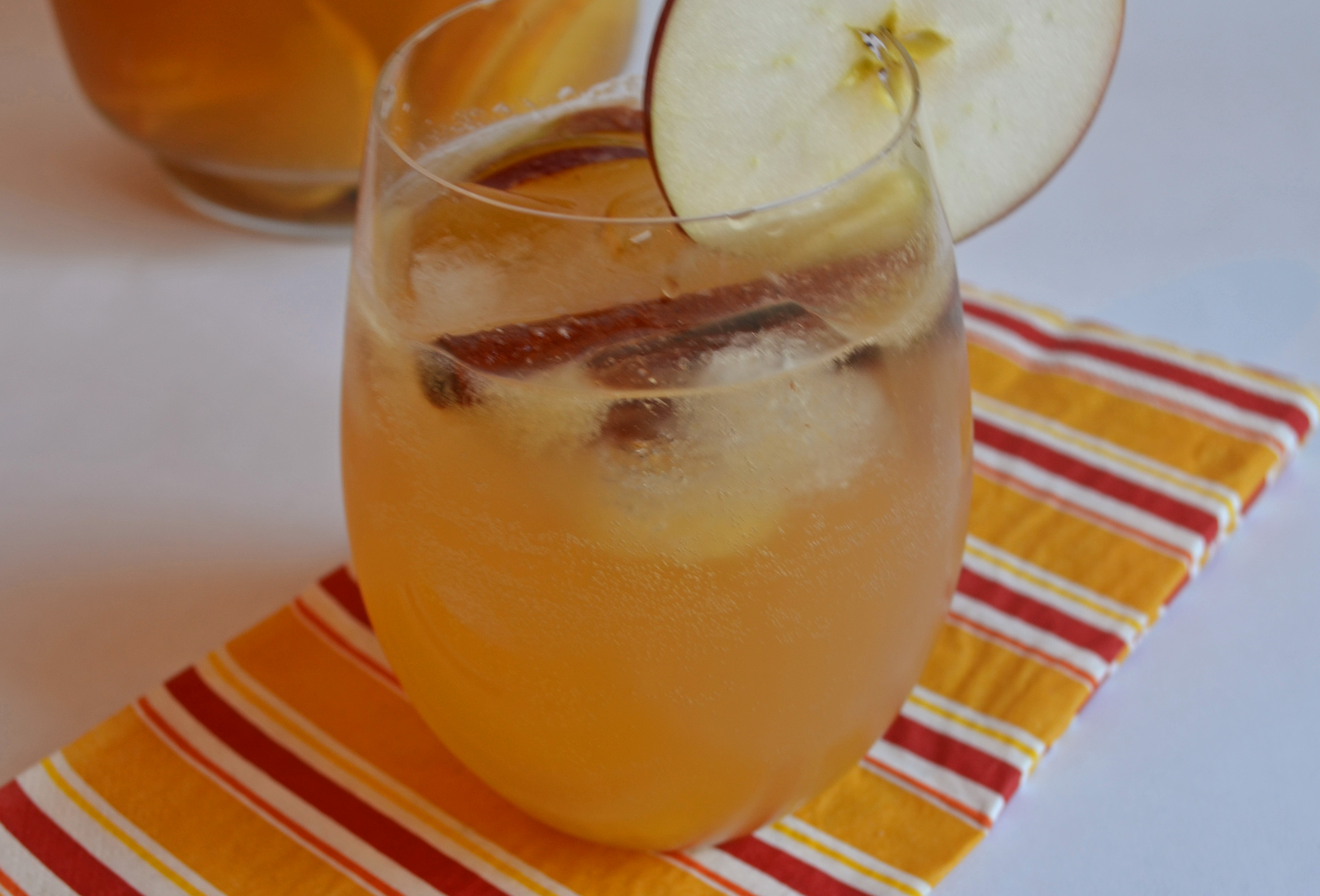 This is goooooood sangria. Sweet from the apple cider, crisp from the ...