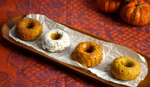 Baked Pumpkin Donuts // Pale Yellow