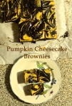 Pumpkin Cheesecake Brownies // Pale Yellow