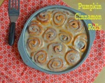 pumpkin cinnamon rolls // pale yellow