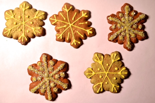 Gingerbread Snowflakes // Pale Yellow