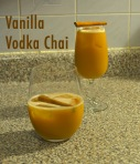vanilla vodka chai // pale yellow