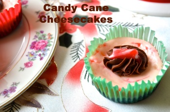 Candy Cane Cheesecakes // Pale Yellow
