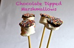 chocolate dipped marshmallows // pale yellow