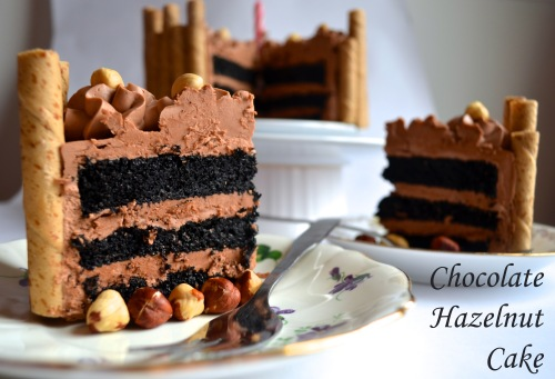 chocolate hazelnut cake // pale yellow