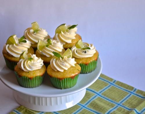 mojito cupcakes // pale yellow