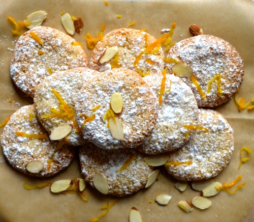 Almond Vanilla Orange Cookies // Pale Yellow
