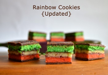 Rainbow Cookies {updated} // Pale Yellow