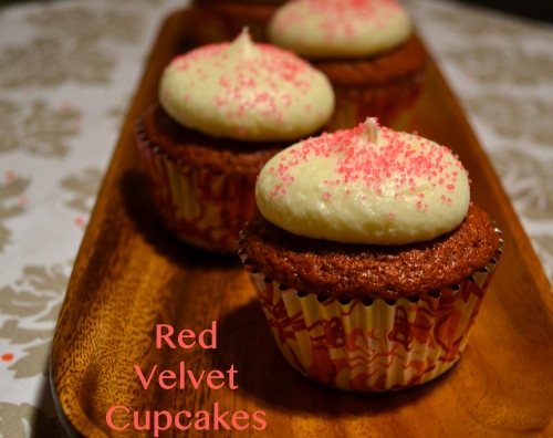 Red Velvet Cupcakes // Pale Yellow