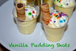 vanilla pudding shots // pale yellow