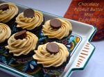 chocolate peanut butter mini cupcakes // pale yellow