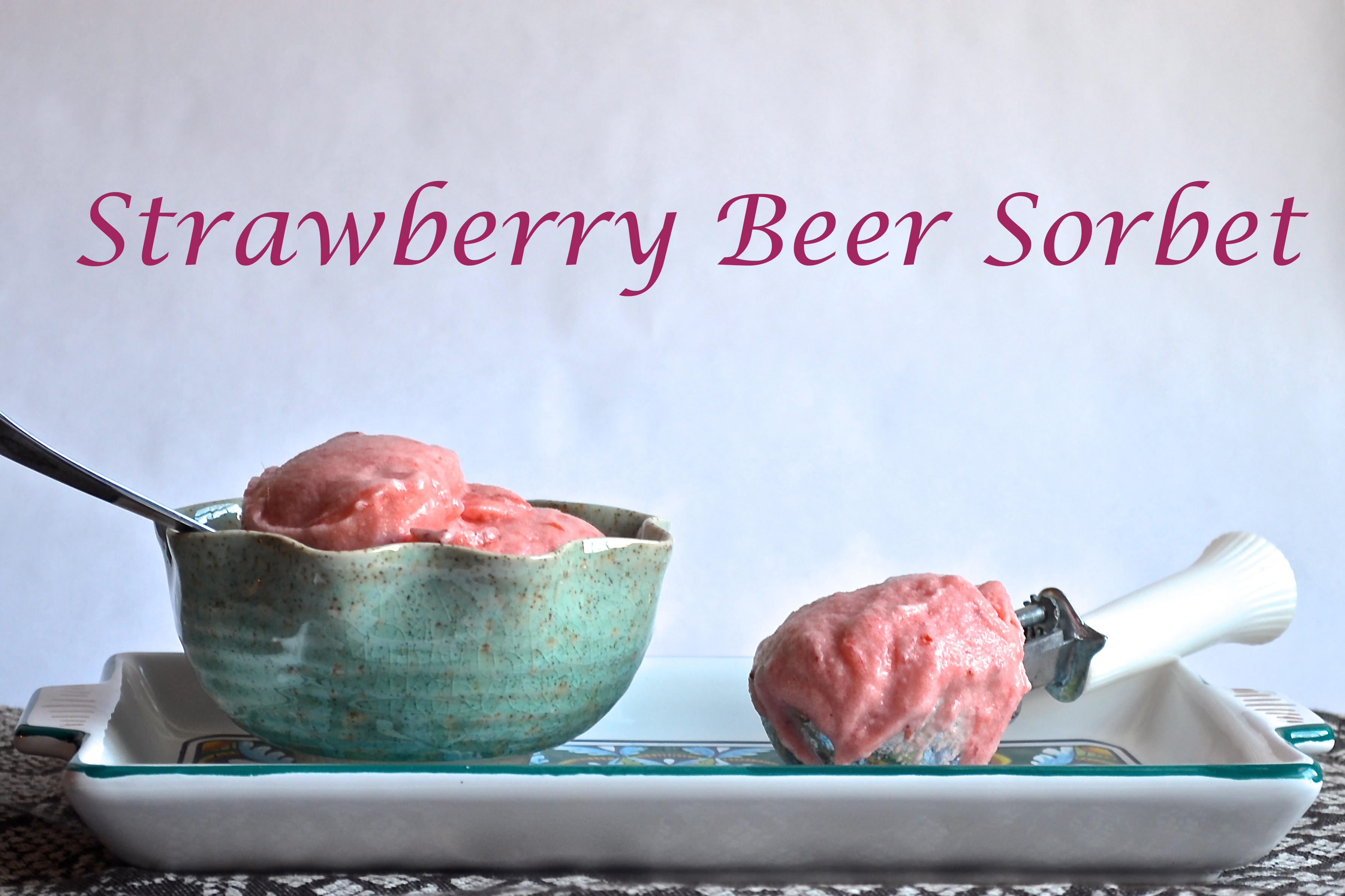 Strawberry Beer Sorbet // Pale Yellow