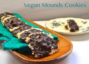 vegan mounds cookies // pale yellow