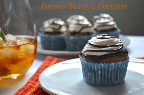 banana bourbon cupcakes // pale yellow