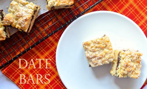 date bars // pale yellow