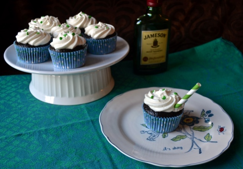 whiskey cupcakes // pale yellow