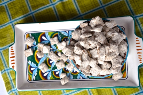 nutella puppy chow // pale yellow