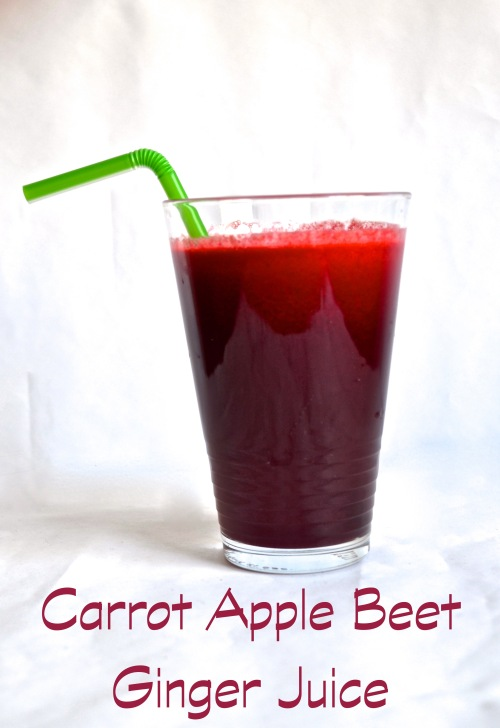 carrot apple beet ginger juice // pale yellow