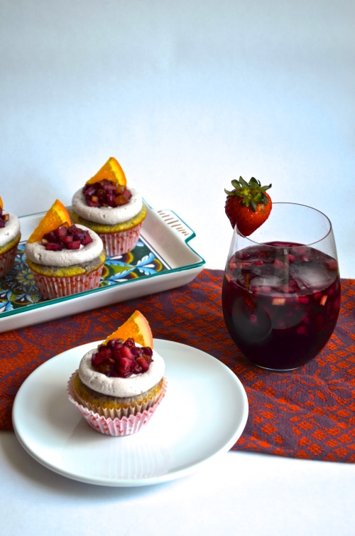 Sangria Cupcakes | Pale Yellow
