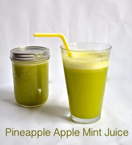 pineapple apple mint juice // pale yellow