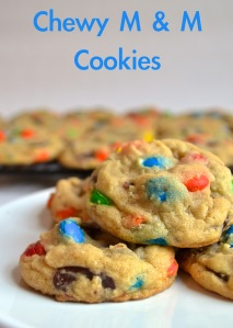 Chewy M & M Cookies | Pale Yellow
