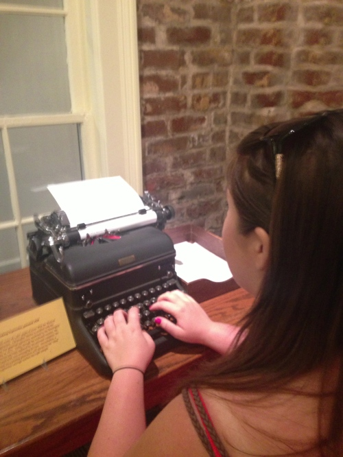 I'm not just a science nerd, I love to read.  Finally visited the Margret Mitchell house where she wrote Gone with the Wind.  Loved typing on the old typewriter, but so thankful for modern computers!
