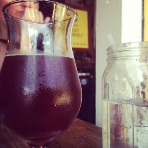 Choosing a beer at a beer bar can be stressful, but luckily I made the right choice!