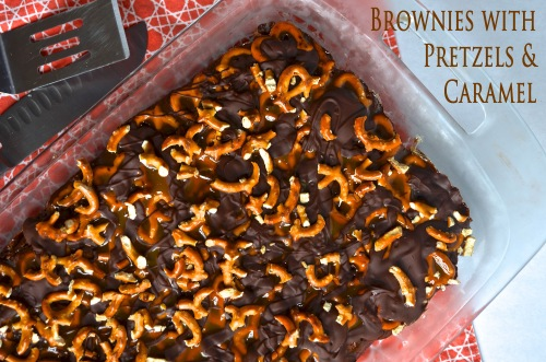 Brownies with Pretzels and Caramel | Pale Yellow