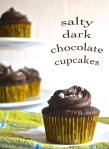 salty dark chocolate cupcakes