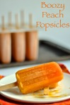 boozy peach popsicles | pale yellow {orange, peach, strawberry, and a bit of booze come together to make one tasy frozen treat!}
