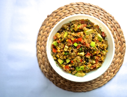 tex mex quinoa | pale yellow