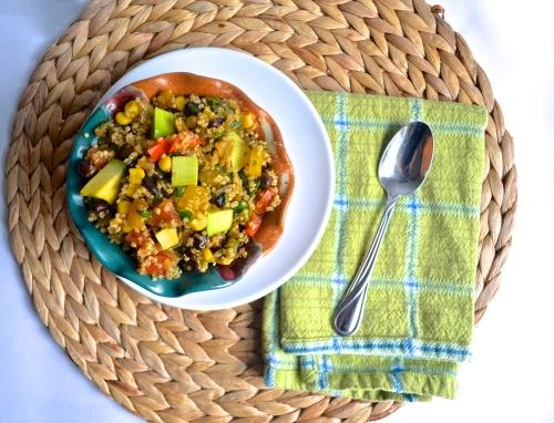 tex mex quinoa | pale yellow