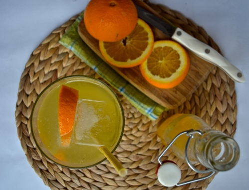 orange ginger syrup | pale yellow