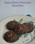 peanut butter chocolate hand pies | pale yellow