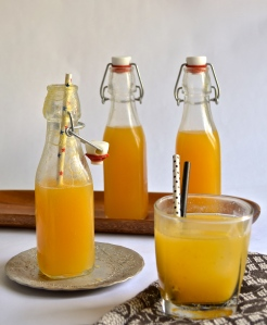 peach and lemon soda | pale yellow