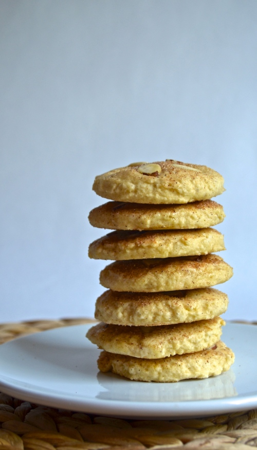 sand dollar cinnamon cookies | pale yellow