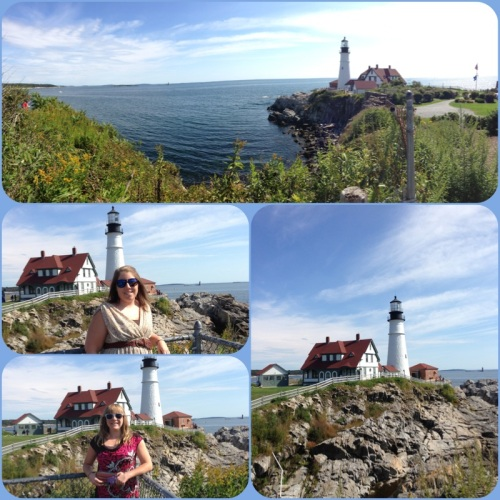 The beautiful Portland Head Light, a gorgeous lighthouse in Cape Elizabeth.  The photos don't lie.  All were taken with my iphone and are unedited!