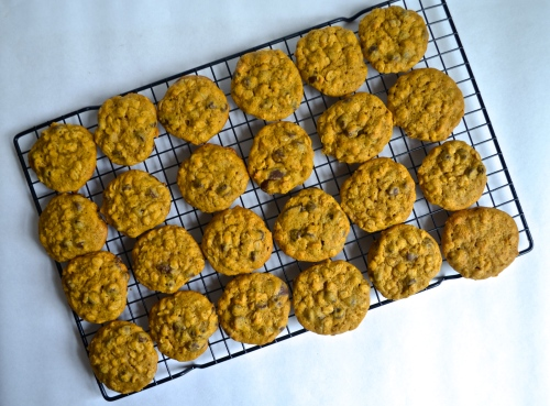 Oatmeal Pumpkin Chocolate Chip Cookies | Pale Yellow