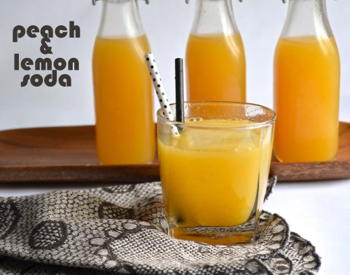peach & lemon soda | pale yellow