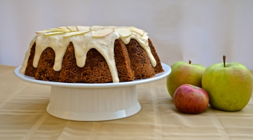 Apple Cake with Brown Butter Frosting | Pale Yellow