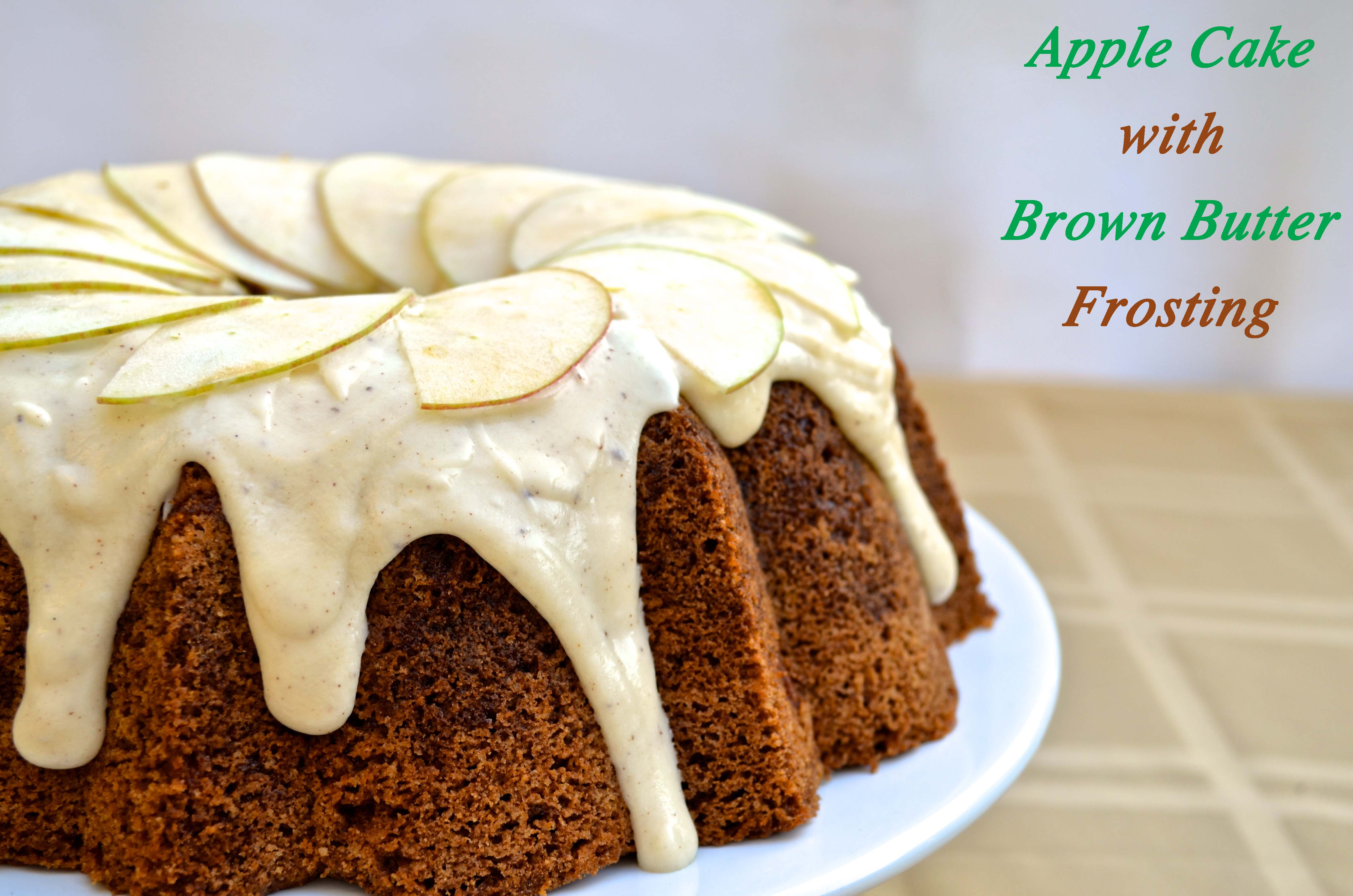 Apple Cake with Brown Butter Frosting — Pale Yellow