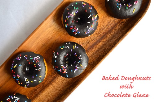 Baked Doughnuts with Chocolate Glaze | Pale Yellow