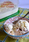 lemon cheesecake ice cream | pale yellow