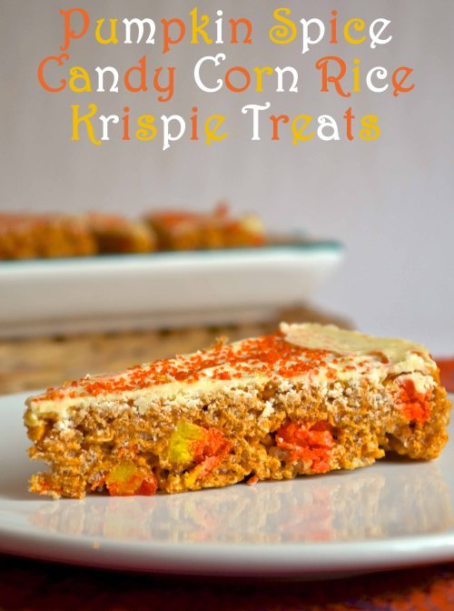 pumpkin spice candy corn rice krispy treats | pale yellow