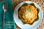 Cheesy Pumpkin Orzo | Pale Yellow